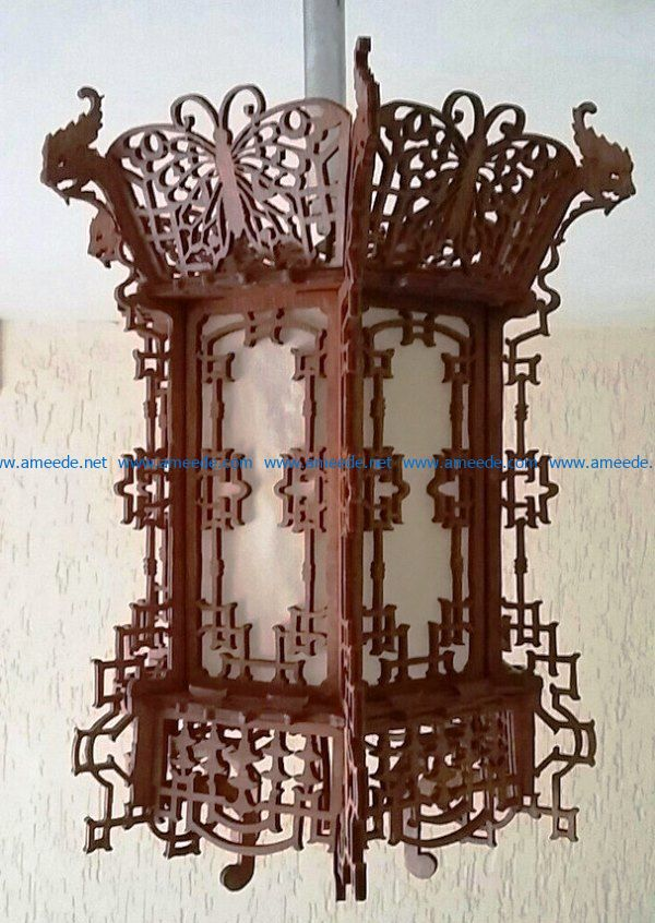 Traditional Chinese lamps file cdr and dxf free vector download for Laser cut CNC