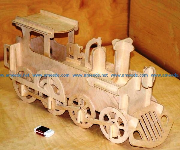 Train file cdr and dxf free vector download for Laser cut