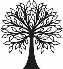 Tree murals file cdr and dxf free vector download for Laser cut Plasma file Decal