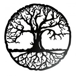 Tree of Life Circle file cdr and dxf free vector download for print or laser engraving machines