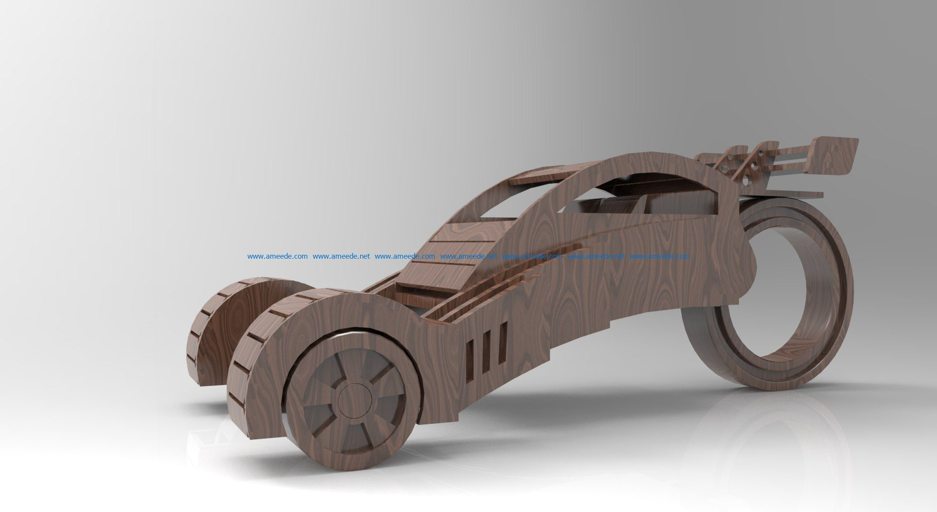 Tricycle file cdr and dxf free vector download for Laser cut CNC