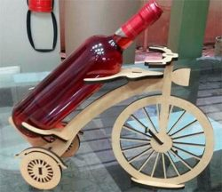 Tricycle shaped wine tray file cdr and dxf free vector download for Laser cut
