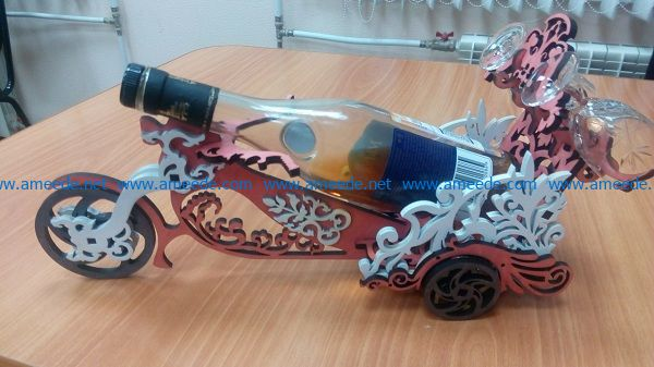 Tricycle wine tray file cdr and dxf free vector download for Laser cut