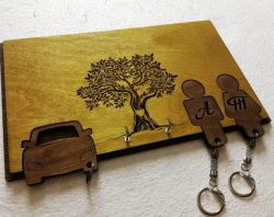 Two keys and a car file cdr and dxf free vector download for Laser cut