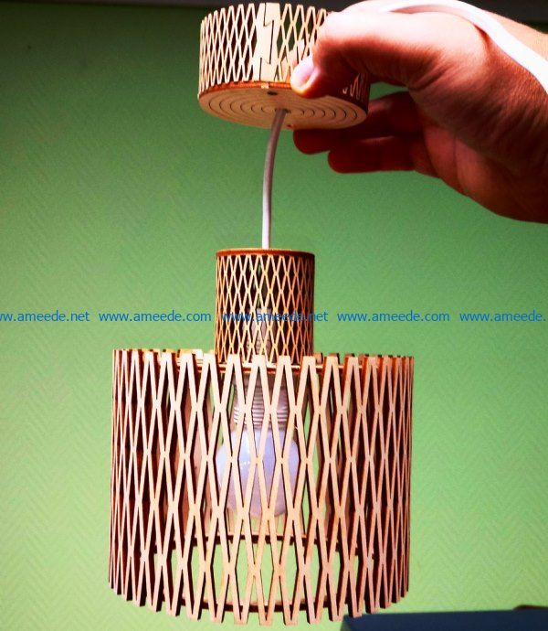 Unique wooden lamp file cdr and dxf free vector download for Laser cut