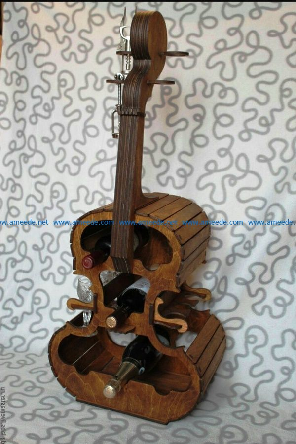 Violon minibar file cdr and dxf free vector download for laser engraving machines