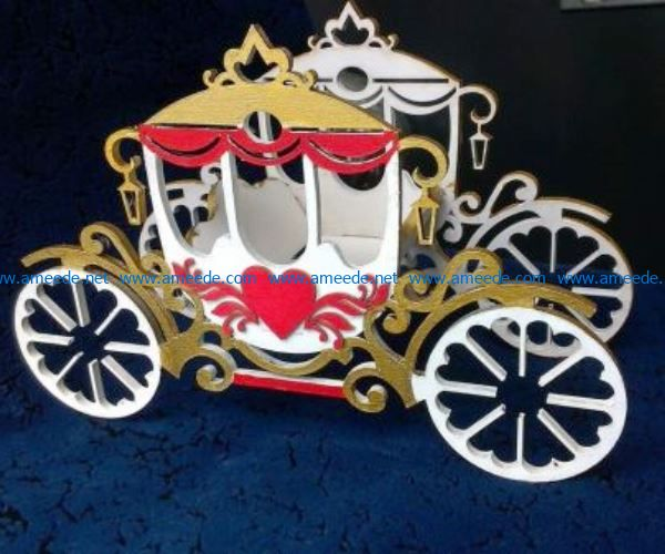 Wagon heart file cdr and dxf free vector download for Laser cut
