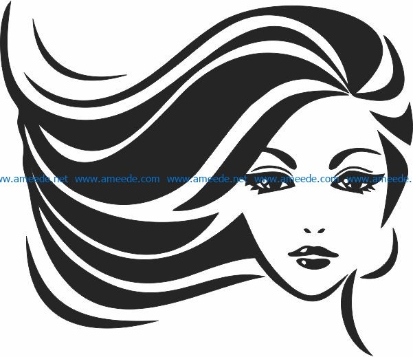 Wall decoration girl file cdr and dxf free vector download for print or laser engraving machines