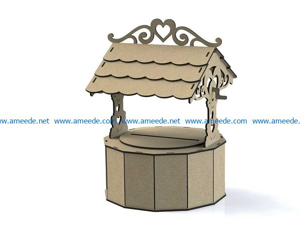 Wells file cdr and dxf free vector download for Laser cut
