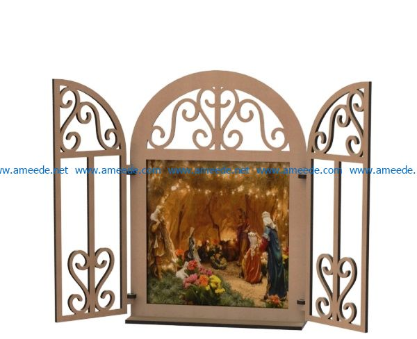 Window picture frame file cdr and dxf free vector download for Laser cut