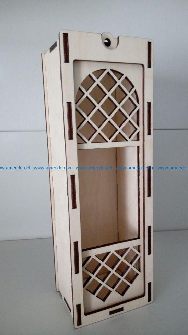 Wine box file cdr and dxf free vector download for Laser cut