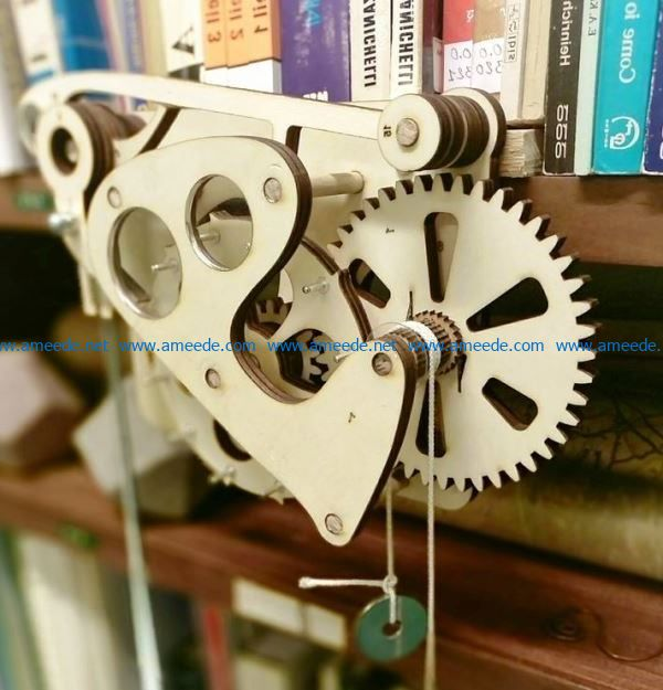Wooden Escapement Mechanism file cdr and dxf free vector download for Laser cut CNC