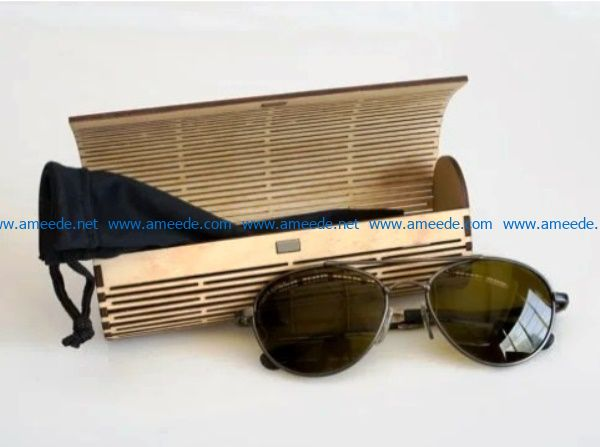 Wooden Eyeglasses box file cdr and dxf free vector download for Laser cut