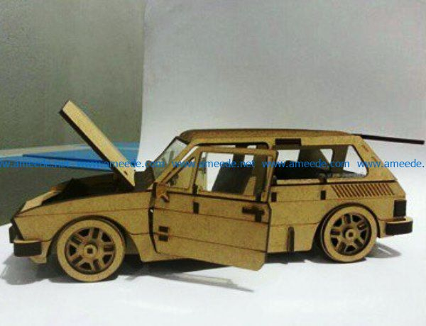 Wooden car file cdr and dxf free vector download for Laser cut
