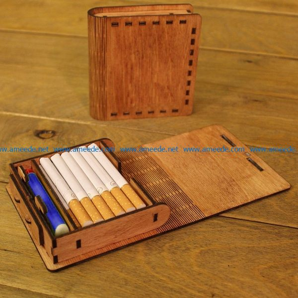 Wooden cigarette case file cdr and dxf free vector download for Laser cut