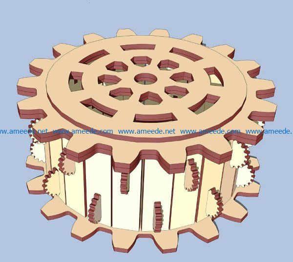 Wooden gear box file cdr and dxf free vector download for Laser cut
