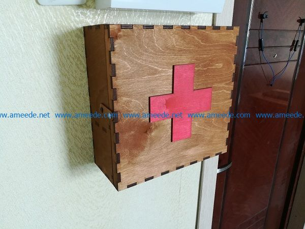 Wooden medical box file cdr and dxf free vector download for Laser cut