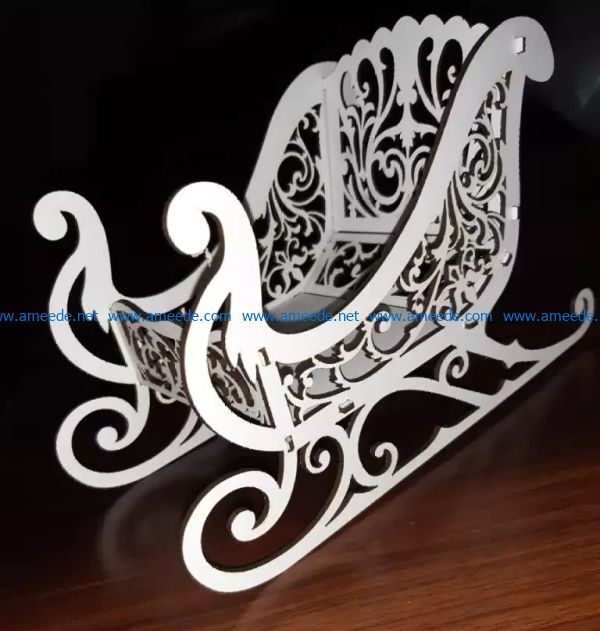 Wooden sleigh file cdr and dxf free vector download for Laser cut