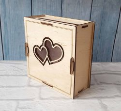 Wooden wedding photo box file cdr and dxf free vector download for Laser cut