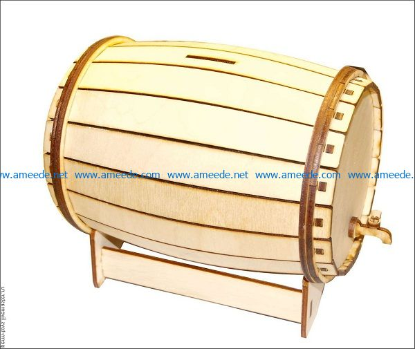 Wooden wine barrels file cdr and dxf free vector download for Laser cut