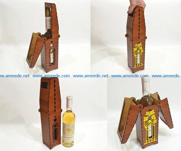 Wooden wine box file cdr and dxf free vector download for Laser cut