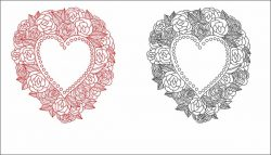 Wreath of hearts file cdr and dxf free vector download for print or laser engraving machines