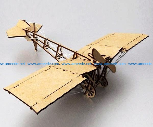 airplane model file cdr and dxf free vector download for Laser cut
