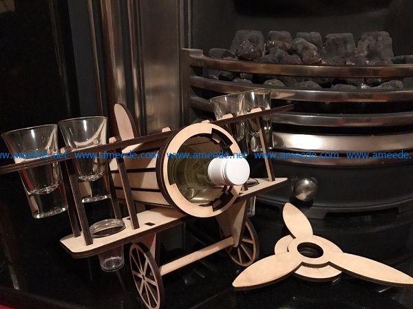 airplane shaped wine tray file cdr and dxf free vector download for Laser cut