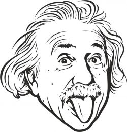 albert einstein vector file cdr and dxf free vector download for print or laser engraving machines