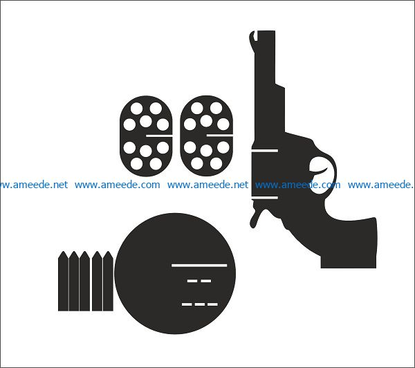 anaconda gun file cdr and dxf free vector download for print or laser engraving machines