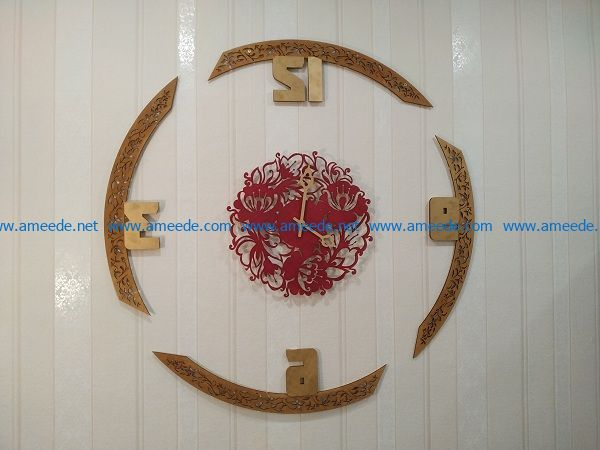 art wall clock file cdr and dxf free vector download for print or laser engraving machines