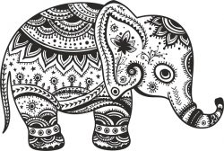 baby elephant file cdr and dxf free vector download for print or laser engraving machines