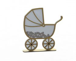 baby stroller file cdr and dxf free vector download for print or laser engraving machines