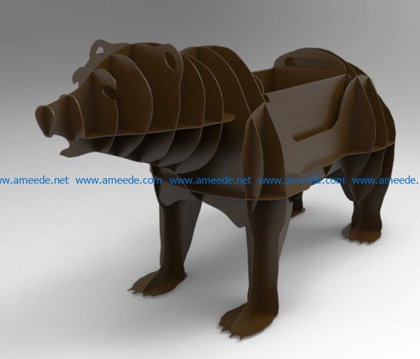 barbecue bear file cdr and dxf free vector download for Laser cut Plasma