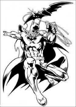 batman and his flying weapon coloring page file cdr and dxf free vector download for print or laser engraving machines