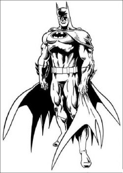batman-coloring-page file cdr and dxf free vector download for print or laser engraving machines