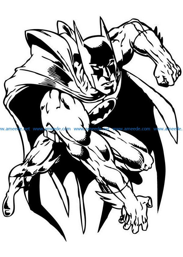 batman file cdr and dxf free vector download for print or laser engraving machines
