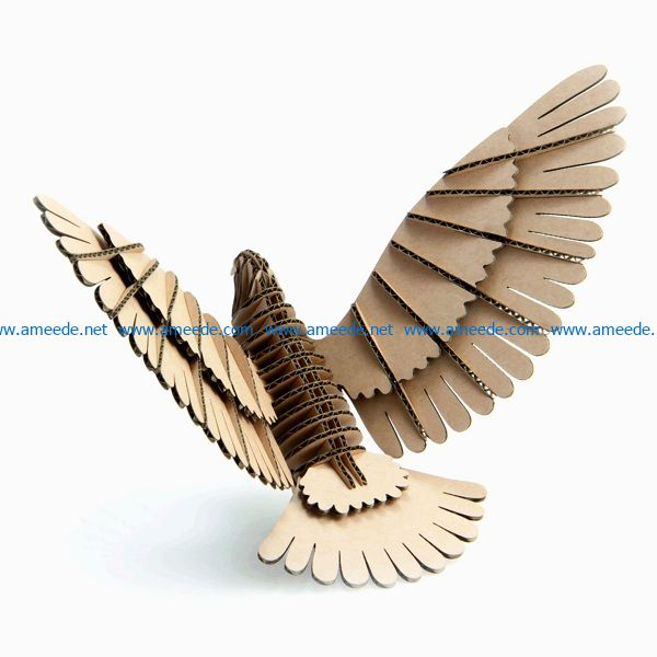 bird with paper cover file cdr and dxf free vector download for Laser cut