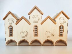 bird's nest house file cdr and dxf free vector download for Laser cut