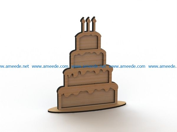 birthday cake file cdr and dxf free vector download for Laser cut