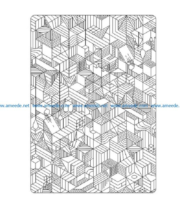 bloknot geometria file cdr and dxf free vector download for print or laser engraving machines