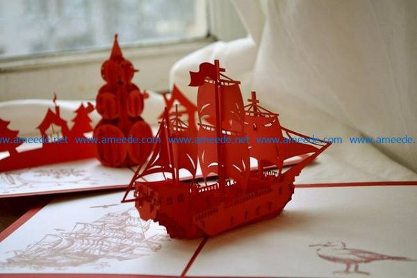 boat file cdr and dxf free vector download for Laser cut