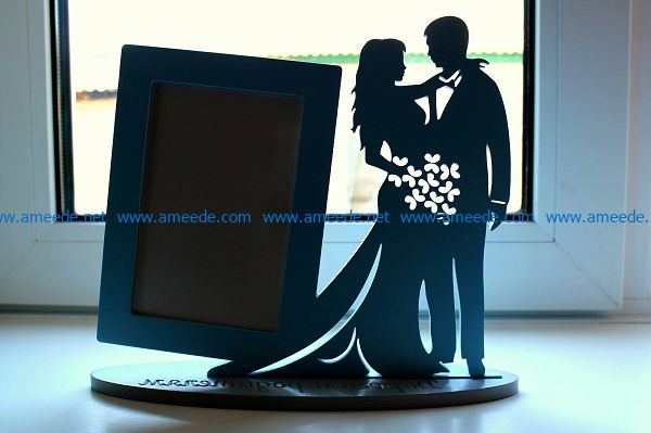 bride and groom file cdr and dxf free vector download for Laser cut