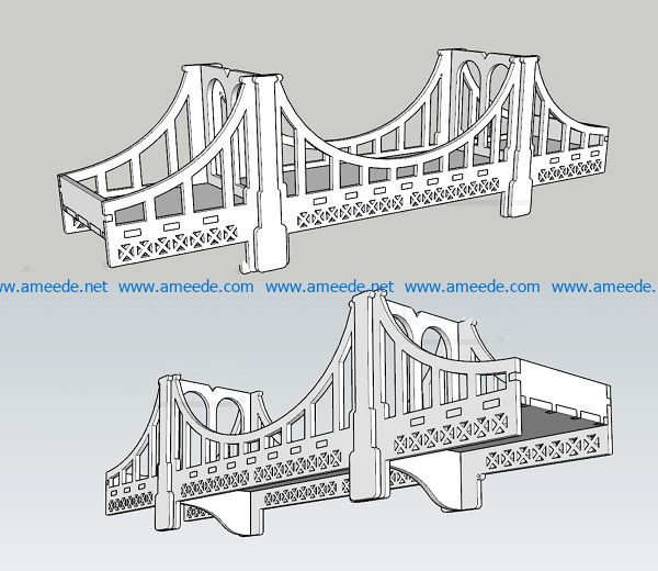 bridge fence file cdr and dxf free vector download for Laser cut