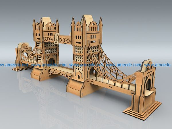 bridge file cdr and dxf free vector download for print or laser engraving machines