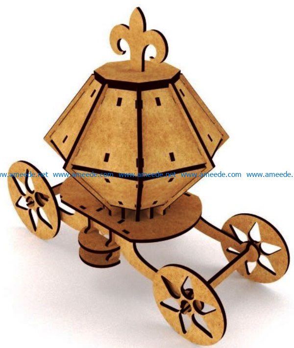 carriage from plywood file cdr and dxf free vector download for Laser cut