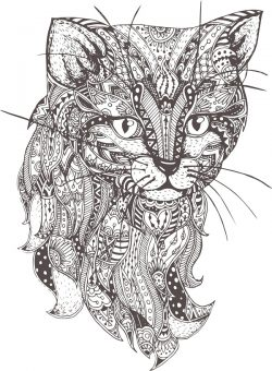 cat black vector file cdr and dxf free vector download for print or laser engraving machines