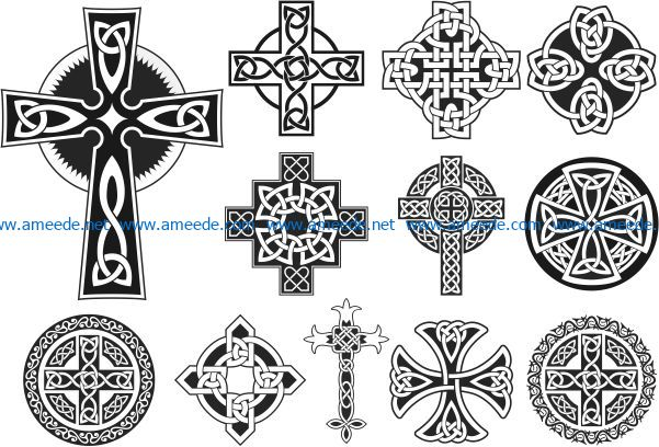 celtic cross file cdr and dxf free vector download for Laser cut CNC