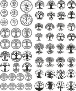 celtic trees pack file cdr and dxf free vector download for print or laser engraving machines