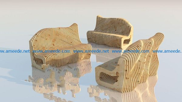 chair file cdr and dxf free vector download for Laser cut